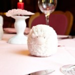 Sheep decoration on a restaurant table